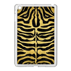 Skin2 Black Marble & Gold Brushed Metal Apple Ipad Mini Case (white) by trendistuff