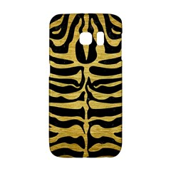 Skin2 Black Marble & Gold Brushed Metal Samsung Galaxy S6 Edge Hardshell Case by trendistuff