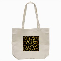 Skin1 Black Marble & Gold Brushed Metal (r) Tote Bag (cream) by trendistuff