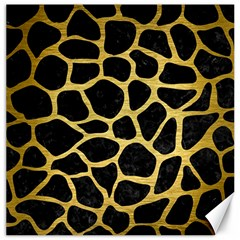 Skin1 Black Marble & Gold Brushed Metal (r) Canvas 16  X 16  by trendistuff