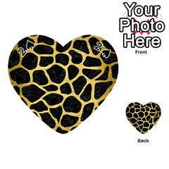Skin1 Black Marble & Gold Brushed Metal (r) Playing Cards 54 (heart) by trendistuff
