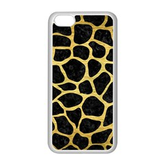 Skin1 Black Marble & Gold Brushed Metal (r) Apple Iphone 5c Seamless Case (white) by trendistuff