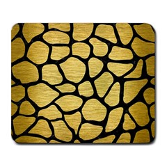 Skin1 Black Marble & Gold Brushed Metal Large Mousepad by trendistuff