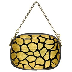 Skin1 Black Marble & Gold Brushed Metal Chain Purse (two Sides) by trendistuff