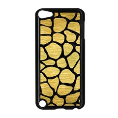 Skin1 Black Marble & Gold Brushed Metal Apple Ipod Touch 5 Case (black) by trendistuff