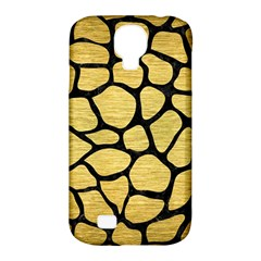 Skin1 Black Marble & Gold Brushed Metal Samsung Galaxy S4 Classic Hardshell Case (pc+silicone) by trendistuff