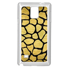 Skin1 Black Marble & Gold Brushed Metal Samsung Galaxy Note 4 Case (white) by trendistuff
