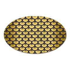 Scales3 Black Marble & Gold Brushed Metal (r) Magnet (oval) by trendistuff