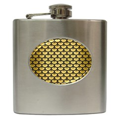 Scales3 Black Marble & Gold Brushed Metal (r) Hip Flask (6 Oz) by trendistuff