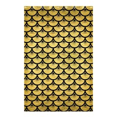 Scales3 Black Marble & Gold Brushed Metal (r) Shower Curtain 48  X 72  (small) by trendistuff