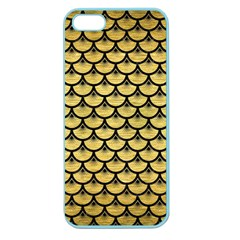 Scales3 Black Marble & Gold Brushed Metal (r) Apple Seamless Iphone 5 Case (color) by trendistuff