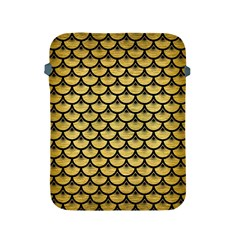 Scales3 Black Marble & Gold Brushed Metal (r) Apple Ipad 2/3/4 Protective Soft Case by trendistuff