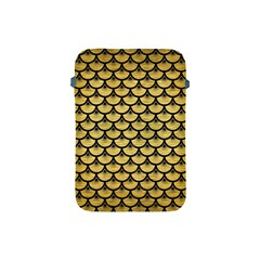 Scales3 Black Marble & Gold Brushed Metal (r) Apple Ipad Mini Protective Soft Case by trendistuff