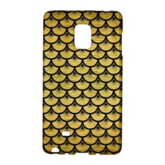Scales3 Black Marble & Gold Brushed Metal (r) Samsung Galaxy Note Edge Hardshell Case by trendistuff