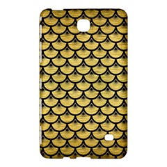 Scales3 Black Marble & Gold Brushed Metal (r) Samsung Galaxy Tab 4 (7 ) Hardshell Case  by trendistuff