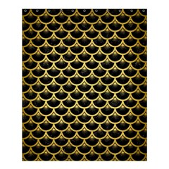 Scales3 Black Marble & Gold Brushed Metal Shower Curtain 60  X 72  (medium) by trendistuff