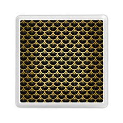 Scales3 Black Marble & Gold Brushed Metal Memory Card Reader (square)