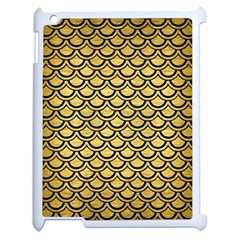 Scales2 Black Marble & Gold Brushed Metal (r) Apple Ipad 2 Case (white) by trendistuff