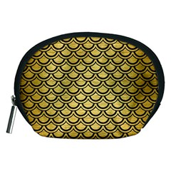 Scales2 Black Marble & Gold Brushed Metal (r) Accessory Pouch (medium) by trendistuff