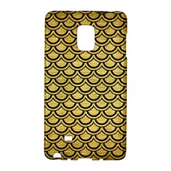 Scales2 Black Marble & Gold Brushed Metal (r) Samsung Galaxy Note Edge Hardshell Case by trendistuff