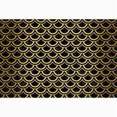 Scales2 Black Marble & Gold Brushed Metal Collage 12  X 18  by trendistuff
