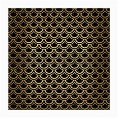 Scales2 Black Marble & Gold Brushed Metal Medium Glasses Cloth by trendistuff