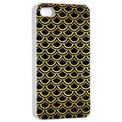 Scales2 Black Marble & Gold Brushed Metal Apple Iphone 4/4s Seamless Case (white)
