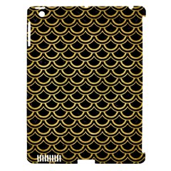 Scales2 Black Marble & Gold Brushed Metal Apple Ipad 3/4 Hardshell Case (compatible With Smart Cover) by trendistuff