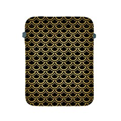 Scales2 Black Marble & Gold Brushed Metal Apple Ipad 2/3/4 Protective Soft Case by trendistuff