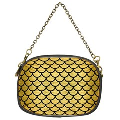 Scales1 Black Marble & Gold Brushed Metal (r) Chain Purse (one Side) by trendistuff