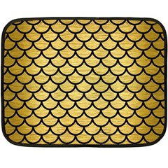 Scales1 Black Marble & Gold Brushed Metal (r) Fleece Blanket (mini) by trendistuff