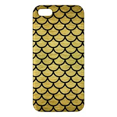 Scales1 Black Marble & Gold Brushed Metal (r) Apple Iphone 5 Premium Hardshell Case by trendistuff