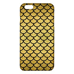 Scales1 Black Marble & Gold Brushed Metal (r) Iphone 6 Plus/6s Plus Tpu Case