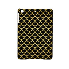 Scales1 Black Marble & Gold Brushed Metal Apple Ipad Mini 2 Hardshell Case by trendistuff