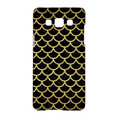 Scales1 Black Marble & Gold Brushed Metal Samsung Galaxy A5 Hardshell Case  by trendistuff