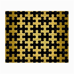 Puzzle1 Black Marble & Gold Brushed Metal Small Glasses Cloth (2 Sides) by trendistuff