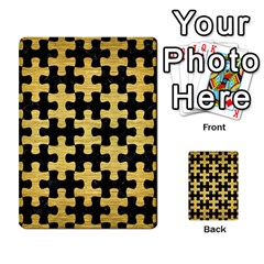 Puzzle1 Black Marble & Gold Brushed Metal Multi Purpose Cards (rectangle) by trendistuff