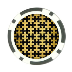 Puzzle1 Black Marble & Gold Brushed Metal Poker Chip Card Guard (10 Pack) by trendistuff