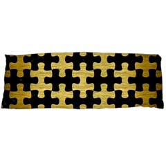 Puzzle1 Black Marble & Gold Brushed Metal Body Pillow Case Dakimakura (two Sides) by trendistuff
