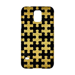 Puzzle1 Black Marble & Gold Brushed Metal Samsung Galaxy S5 Hardshell Case  by trendistuff