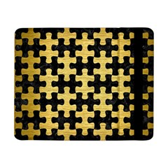 Puzzle1 Black Marble & Gold Brushed Metal Samsung Galaxy Tab Pro 8 4  Flip Case by trendistuff
