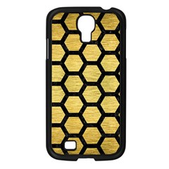 Hexagon2 Black Marble & Gold Brushed Metal (r) Samsung Galaxy S4 I9500/ I9505 Case (black) by trendistuff