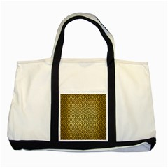 Hexagon1 Black Marble & Gold Brushed Metal (r) Two Tone Tote Bag by trendistuff
