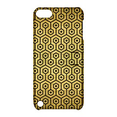 Hexagon1 Black Marble & Gold Brushed Metal (r) Apple Ipod Touch 5 Hardshell Case With Stand by trendistuff