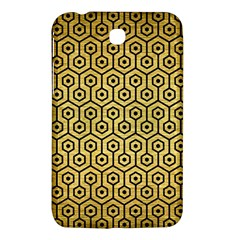Hexagon1 Black Marble & Gold Brushed Metal (r) Samsung Galaxy Tab 3 (7 ) P3200 Hardshell Case  by trendistuff