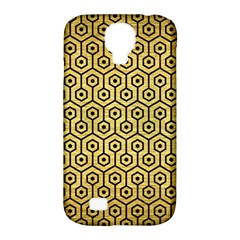 Hexagon1 Black Marble & Gold Brushed Metal (r) Samsung Galaxy S4 Classic Hardshell Case (pc+silicone) by trendistuff