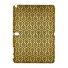 Hexagon1 Black Marble & Gold Brushed Metal (r) Samsung Galaxy Note 10 1 (p600) Hardshell Case by trendistuff