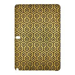 Hexagon1 Black Marble & Gold Brushed Metal (r) Samsung Galaxy Tab Pro 10 1 Hardshell Case by trendistuff