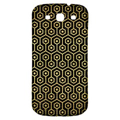 Hexagon1 Black Marble & Gold Brushed Metal Samsung Galaxy S3 S Iii Classic Hardshell Back Case by trendistuff