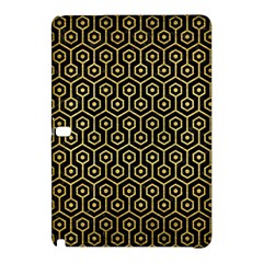 Hexagon1 Black Marble & Gold Brushed Metal Samsung Galaxy Tab Pro 12 2 Hardshell Case by trendistuff